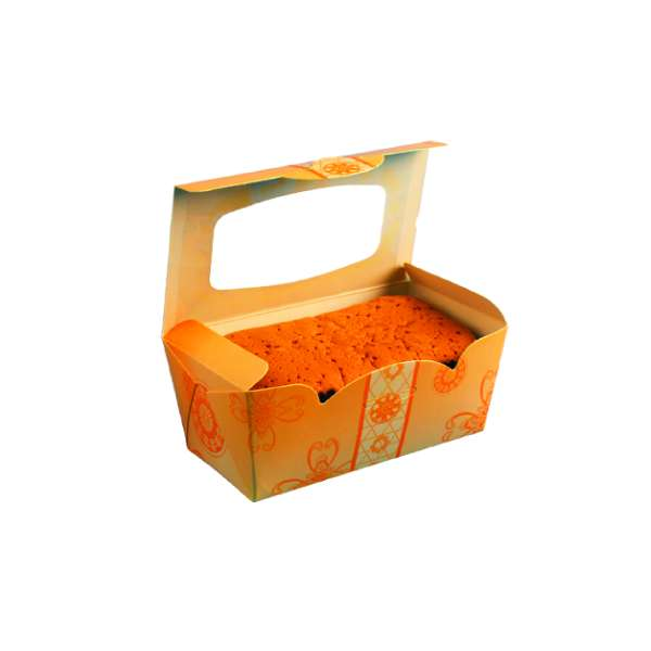 F115 Paper Box w/Window-Orange