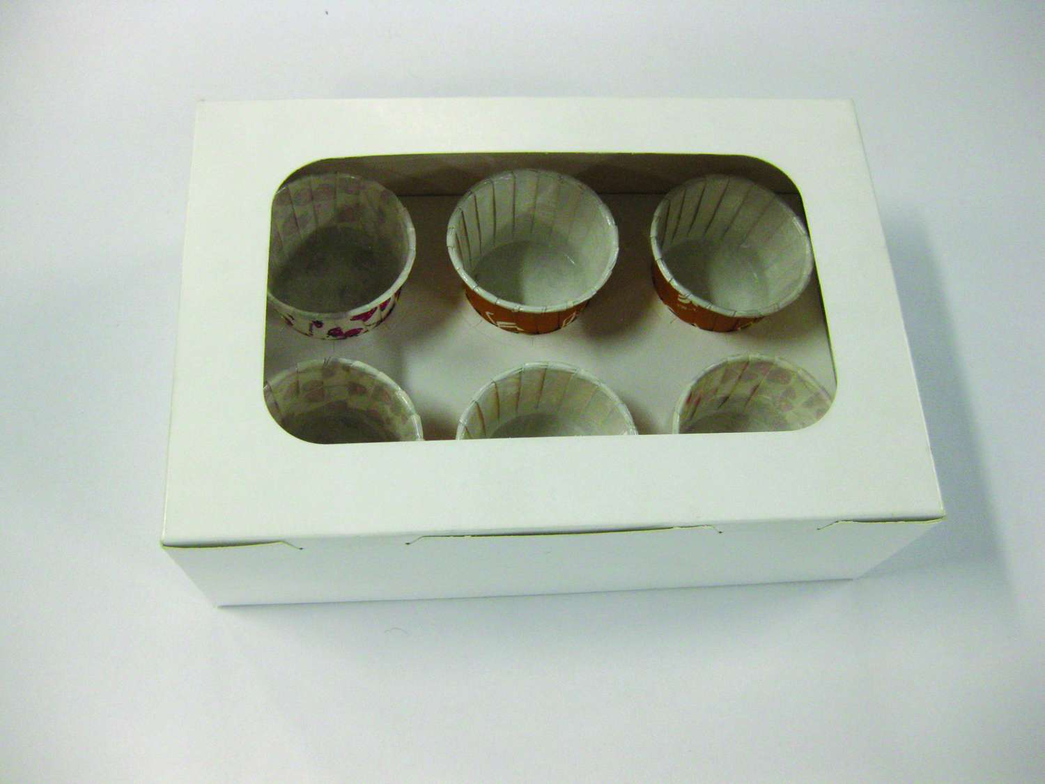 CAKE BOX with 6 Cavity (white)
